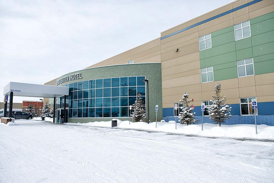 exterior of Dimond Center Hotel